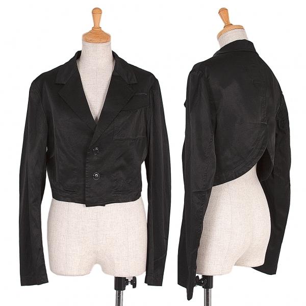 新品!ワイズY's キュプラショートジャケット 黒2