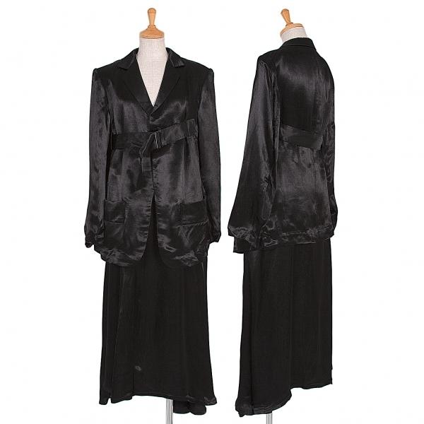 ワイズY's ベルテッドレーヨンセットアップスーツ 黒3【中古】