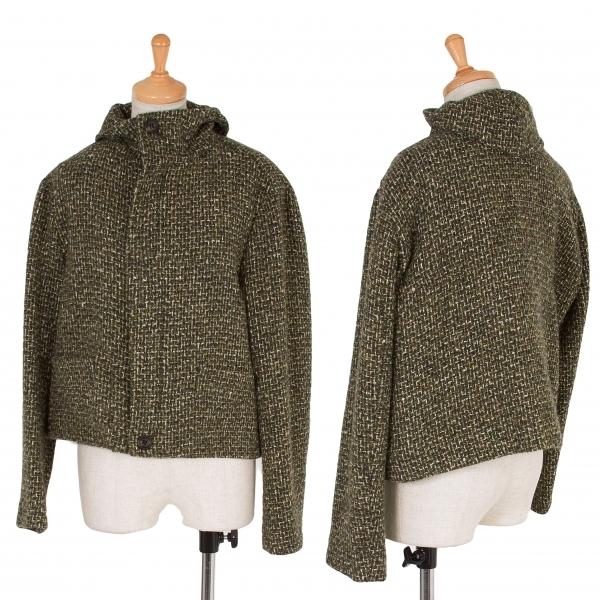 ワイズY's 混紡ツイードショートジャケット 緑2【中古】