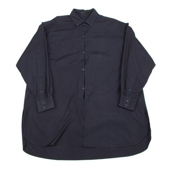 ワイズフォーメンY's for men チャイナボタンコットンロングシャツ 紺L位【中古】 【メンズ】