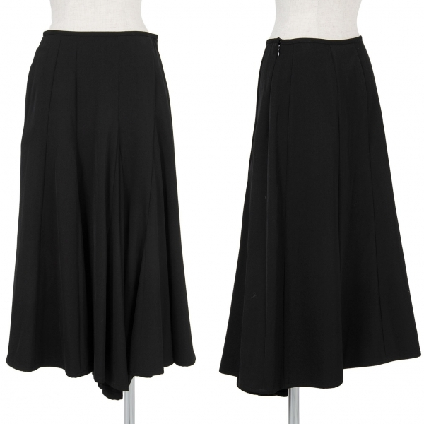 ワイズY's ウールギャバドレープスカート 黒3【中古】