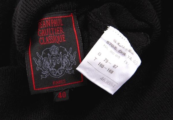 ジャンポールゴルチエ クラシックJean Paul GAULTIER CLASSIQUE ハイネックショートニット 黒40レディースmwv8nN0