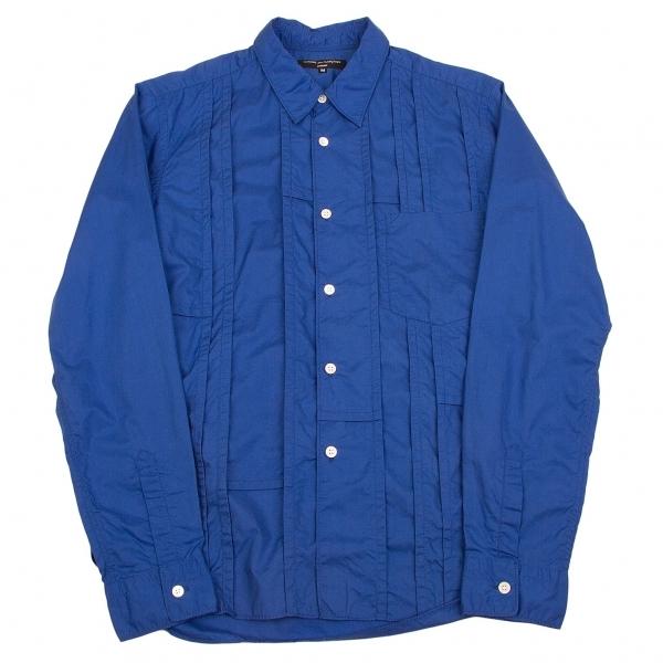 コムデギャルソン オムCOMME des GARCONS HOMME パッチワークパッカリングシャツ 青M【中古】 【メンズ】