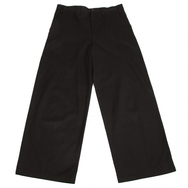 ワイズY's コットンワイドパンツ 黒3【中古】