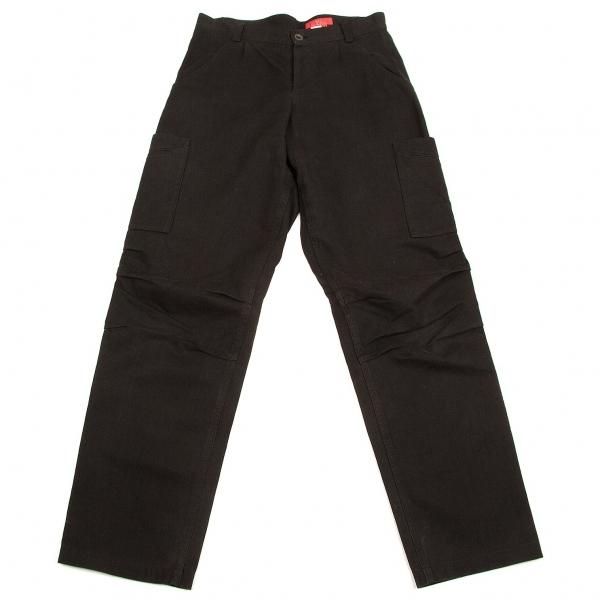 ワイズY's コットンリネンポケットデザインパンツ 黒3【中古】 【レディース】