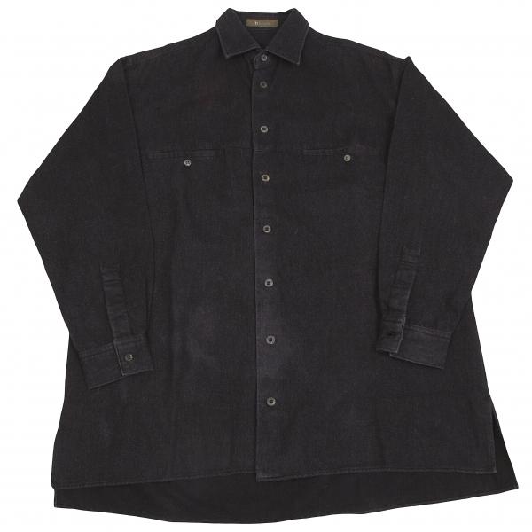 ワイズフォーメンY's for men ピリング加工コットンシャツジャケット チャコールグレーM位【中古】 【メンズ】