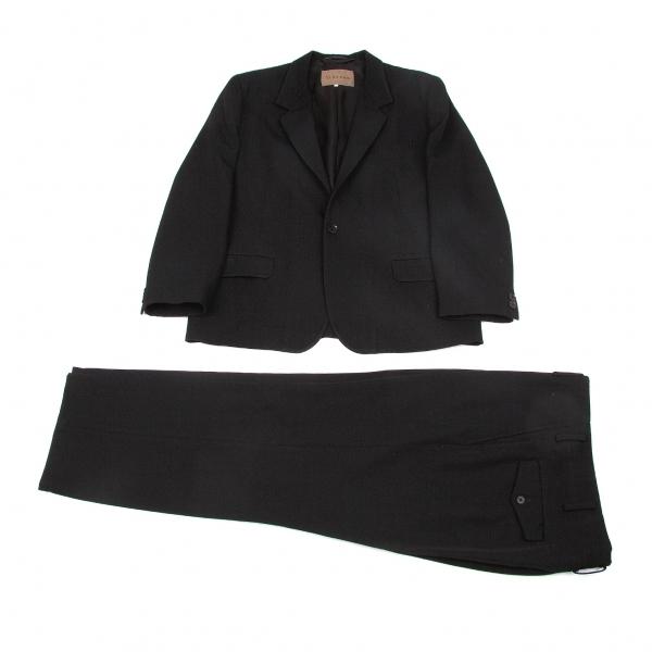 ワイズフォーメンY's for men オールドギャバテーラードセットアップスーツ 黒2/3【中古】