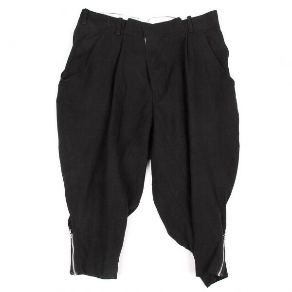 ワイズY's リネン裾ジップジョッパーズパンツ 黒生成り2【中古】
