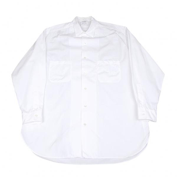 ヨウジヤマモト プールオムYohji Yamamoto POUR HOMME コットンダブルポケットシャツ 白L位【中古】