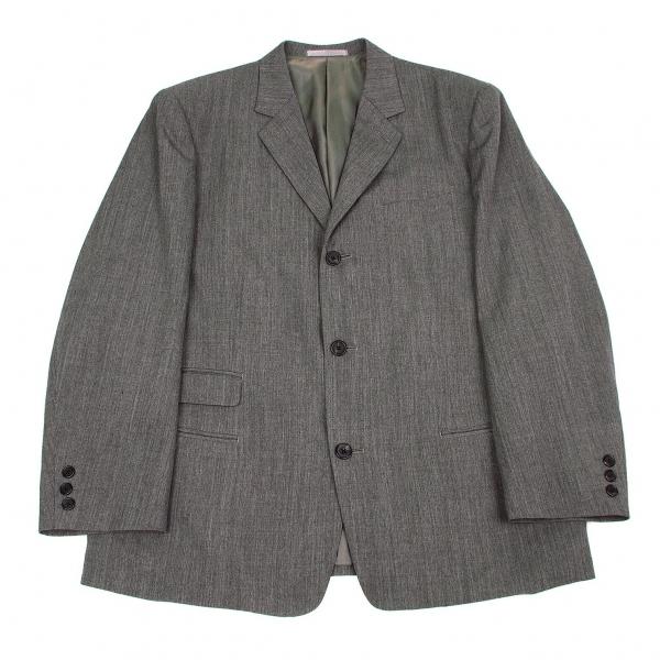 ワイズフォーメンY's for men ウール3Bテーラードジャケット 杢グレーM【中古】 【メンズ】