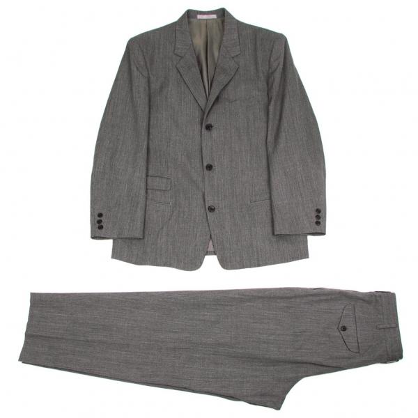 ワイズフォーメンY's for men ウール3Bテーラードセットアップスーツ 杢グレーM【中古】 【メンズ】