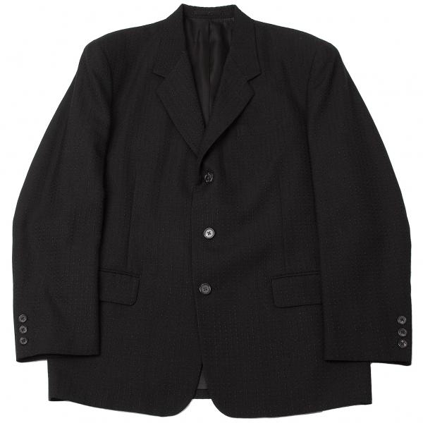 ワイズフォーメンY's for men ウールストライプ織りジャケット 黒S【中古】