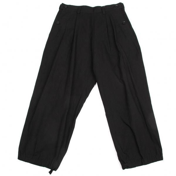 新品!ワイズY's コットンポケットデザインタックワイドパンツ 黒2