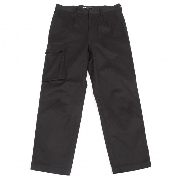 ワイスリーY-3 コットンポリサイドポケットパンツ 黒XS【中古】 【メンズ】