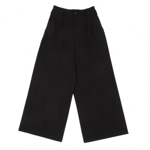 ワイズY's サマーウールワイドパンツ 黒M位【中古】