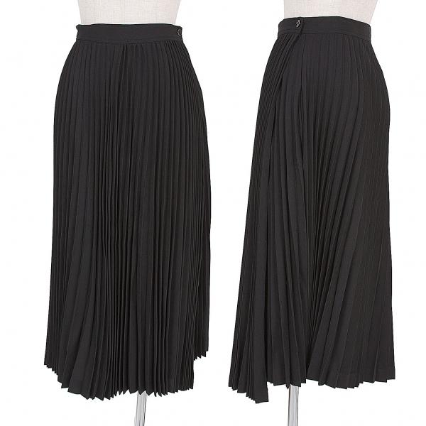 ワイズY's オルガンプリーツラップスカート 黒M位【中古】