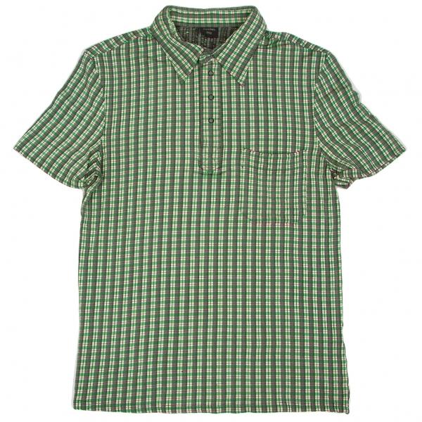 ジャンポールゴルチエ オムJean Paul GAULTIER HOMME チェック織りストレッチポロシャツ 緑黒白48【中古】 【メンズ】