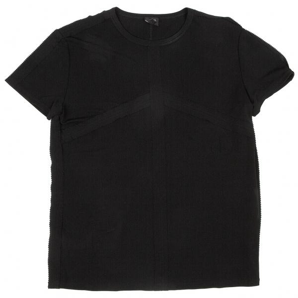 ジャンポールゴルチエ オムJean Paul GAULTIER HOMME カッティングテープ貼り付けTシャツ 黒48【中古】 【メンズ】