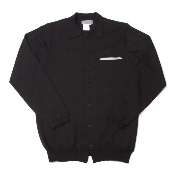 ヨウジヤマモト プールオムYohji Yamamoto POUR HOMME ウールニットシャツ 黒杢グレー3【中古】