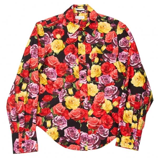 ポールスミス ロンドン Paul Smith LONDON フラワープリントシャツ 赤黒黄他S【中古】 【レディース】