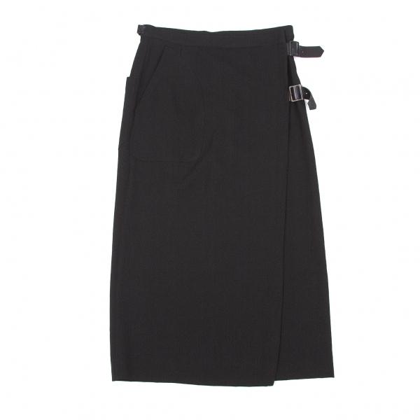 ヨウジヤマモト プールオムYohji Yamamoto POUR HOMME オールドギャバラップスカート 黒1【中古】