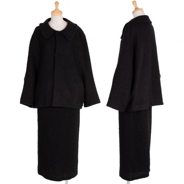 ワイズY's ウール混起毛セットアップスーツ 黒M位【中古】