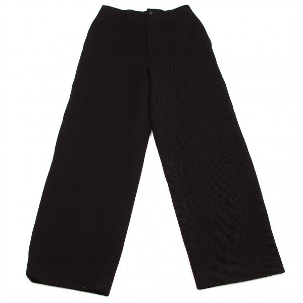 トリコ コムデギャルソンtricot COMME des GARCONS ウール織りパンツ 黒M【中古】