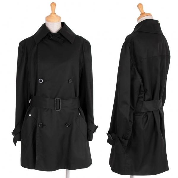 ワイズY's シルクベルト装飾ハーフコート 黒3【中古】