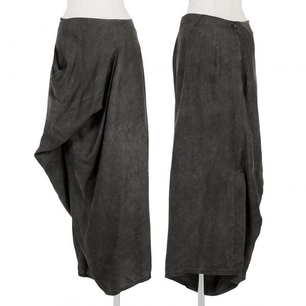 ワイズY's シルク変形スカート グレーM【中古】
