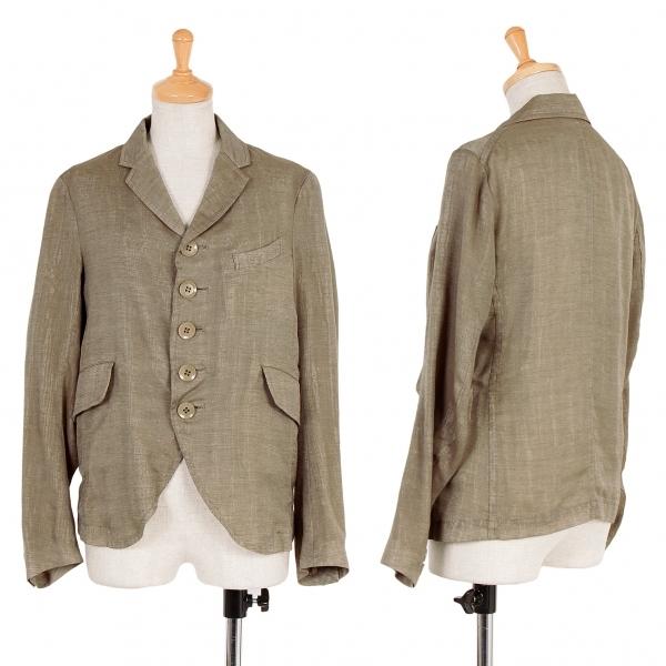 【SALE】ワイズY's オーガンジーレイヤードジャケット モカベージュ1【中古】 【レディース】