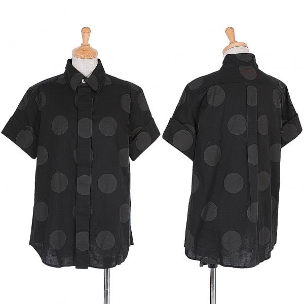【SALE】ワイズY's 顔料ドットプリント半袖シャツ 黒2【中古】 【レディース】