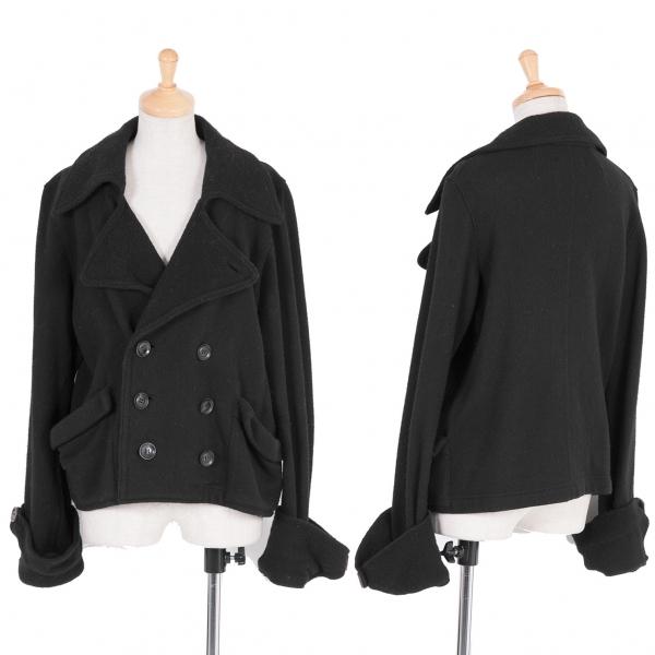 ワイズY's デザインウールダブルジャケット 黒2【中古】