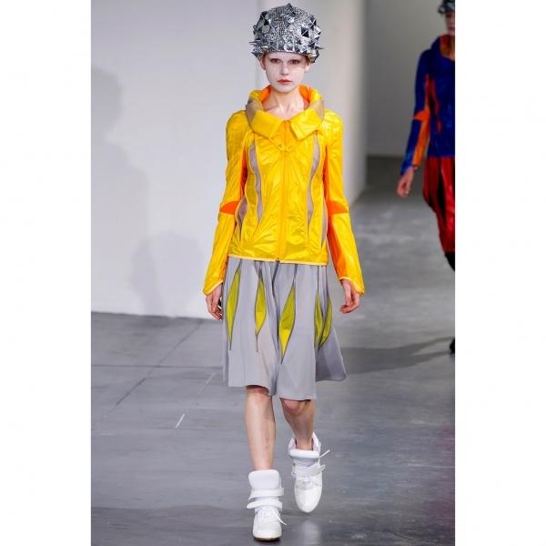 ジュンヤワタナベ コムデギャルソンJUNYA WATANABE COMME des GARCONS ジップデザインスカート 紺S【中古】