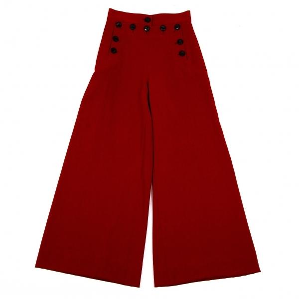 ジャンポールゴルチエ クラシックJean Paul GAULTIER CLASSIQUE フロントボタンワイドパンツ 赤40【中古】