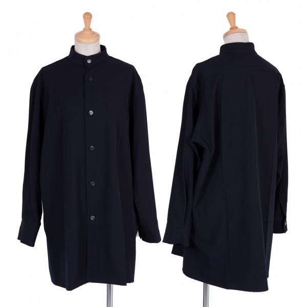 ワイズY's ウールギャバスタンドカラージャケット 紺3【中古】