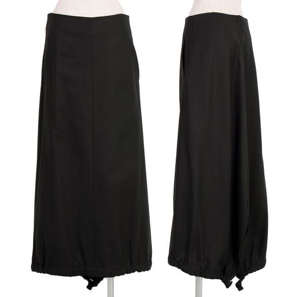ワイズY's コットンフィッシュテールスカート 黒3【中古】