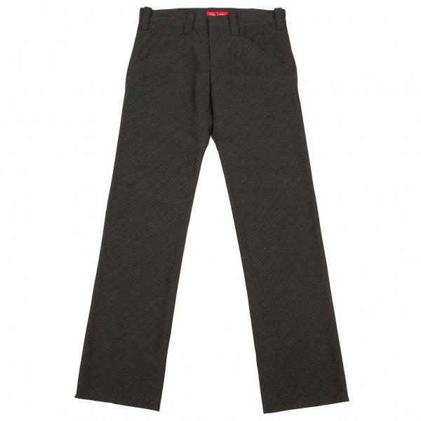 ワイズ レッドレーベルY's red Label ウール斜めポケットパンツ チャコール2【中古】