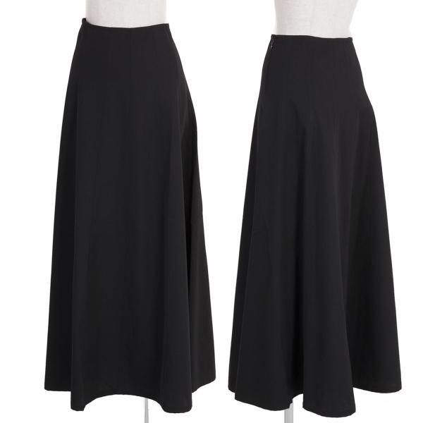 ワイズY's ウールギャバゴアードスカート 黒2【中古】