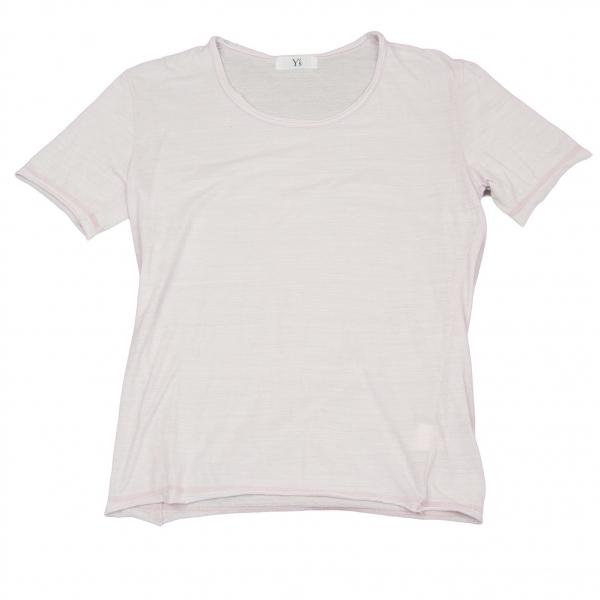 ワイズフォーメンY's for men コットンポリ裁ち切りTシャツ ライトパープル3【中古】 【メンズ】