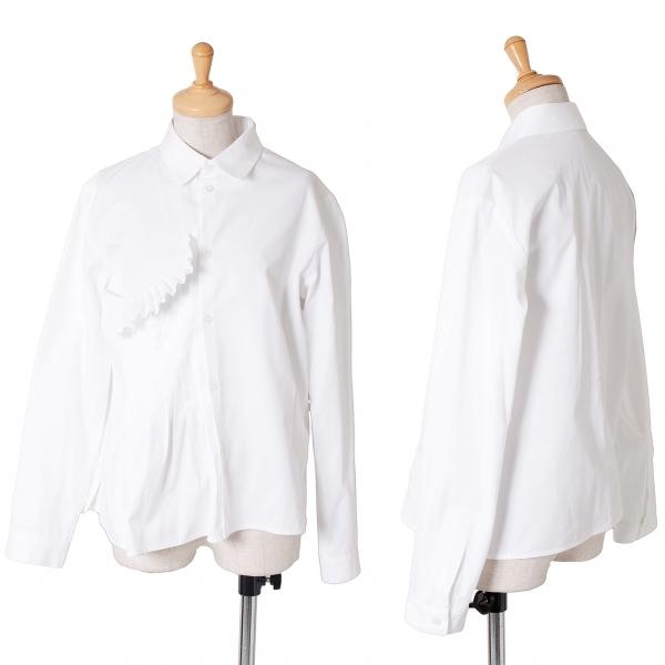 ヨウジヤマモト ノアールYohji Yamamoto NOIR プリーツ切替デザインシャツ 白1【中古】