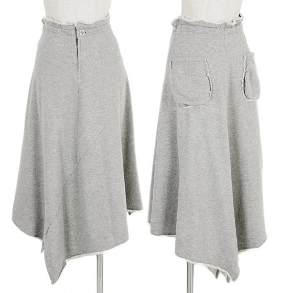 ワイズY's 切替デザインスウェットスカート 杢グレー2【中古】