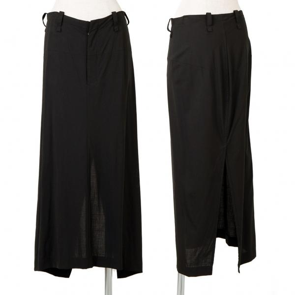 ワイズY's ウールバックスリットスカート 黒3【中古】