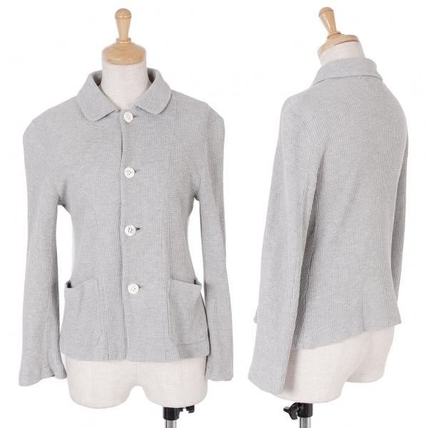 トリココムデギャルソンtricot COMME des GARCONS サーマルシャツジャケット 杢グレーM位【中古】 【レディース】