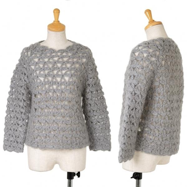 【SALE】トリココムデギャルソンtricot COMME des GARCONS 手編みローゲージニットセーター グレーM位【中古】 【レディース】