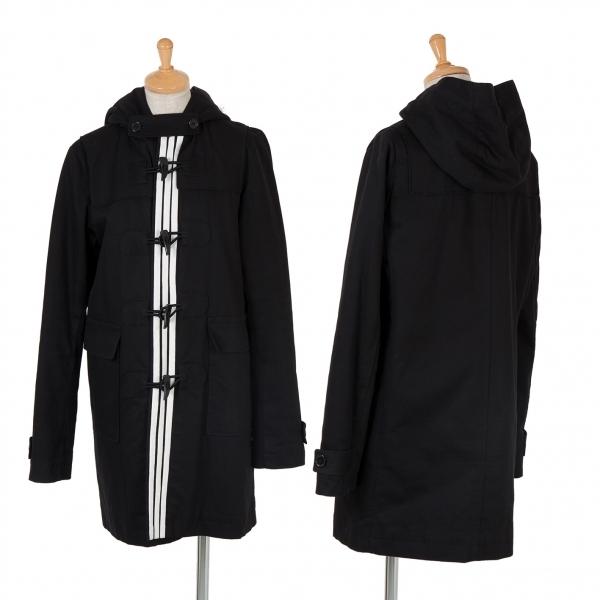 ワイスリーY-3 トグルデザイン中綿フードコート 黒白S/P【中古】 【レディース】