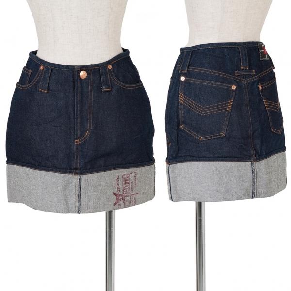 ゴルチエジーンズGAULTIER JEAN'S 裾折り返しデザインデニムスカート インディゴ40【中古】 【レディース】