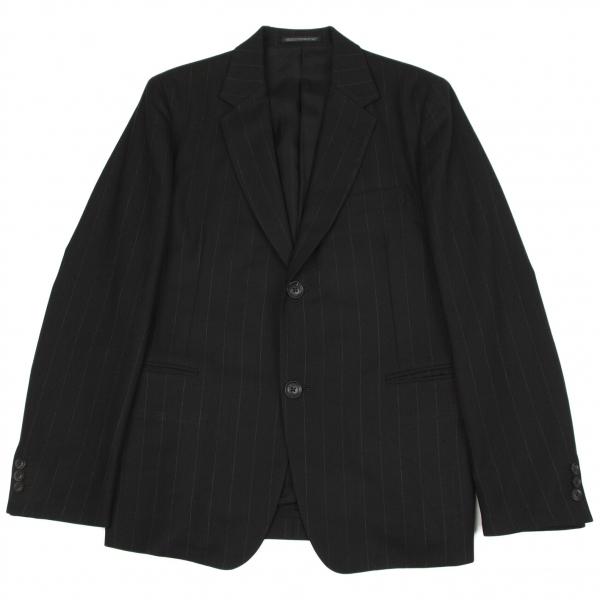 ヨウジヤマモト コスチュームドオムYohji Yamamoto COSTUME D' HOMME ストライプジャケット 黒2【中古】 【メンズ】