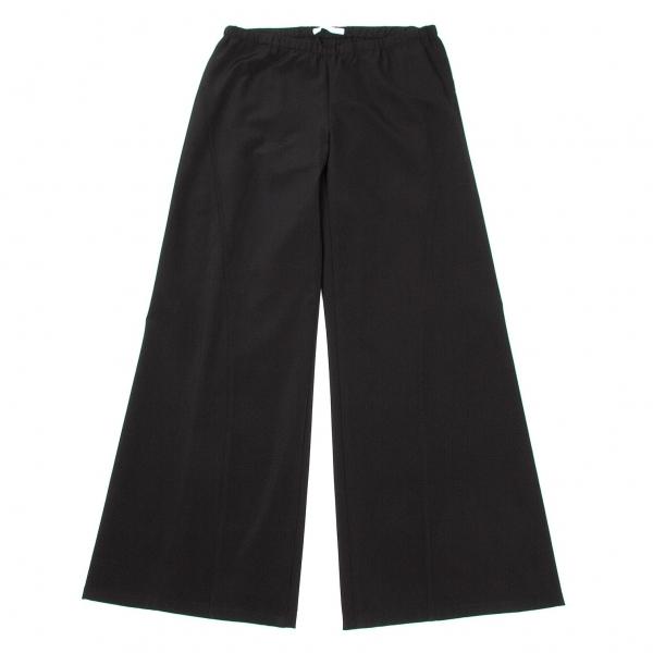 プリーツプリーズPLEATS PLEASE ステッチデザインワイドパンツ ブラック 黒4【中古】