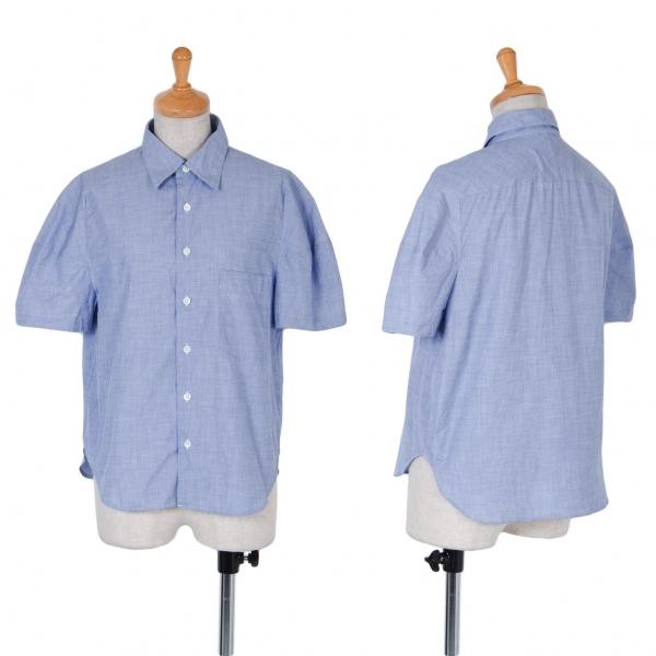 トリココムデギャルソンtricot COMME des GARCONS 袖変形半袖シャツ ブルーM位【中古】 【レディース】