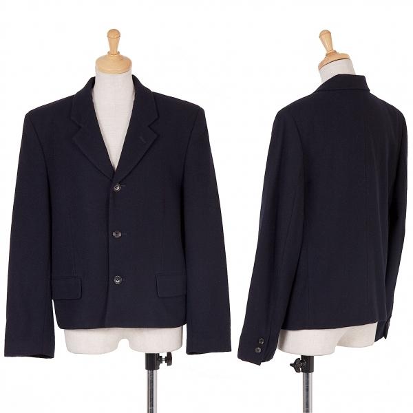 【SALE】トリココムデギャルソンtricot COMME des GARCONS 3釦ショートジャケット 紺M【中古】 【レディース】